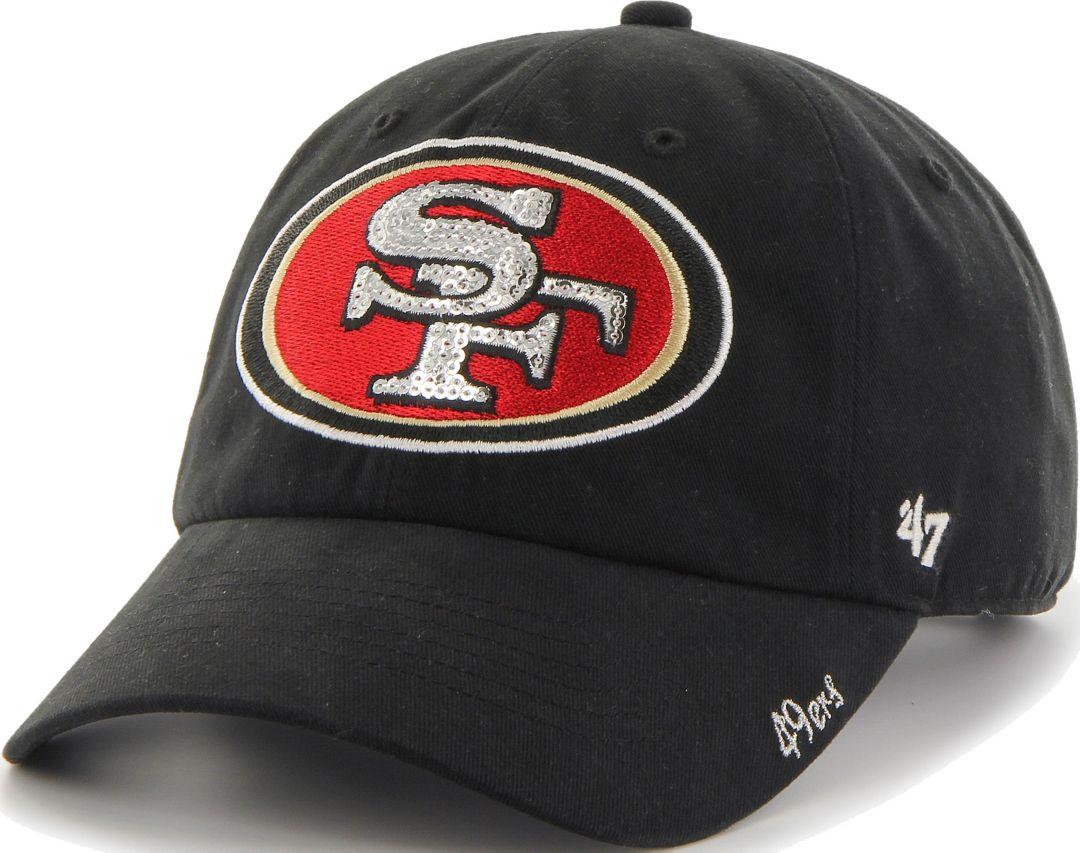 1c6718c3d2b891 47 Women's San Francisco 49ers Sparkle Clean Up Black Adjustable Hat ...