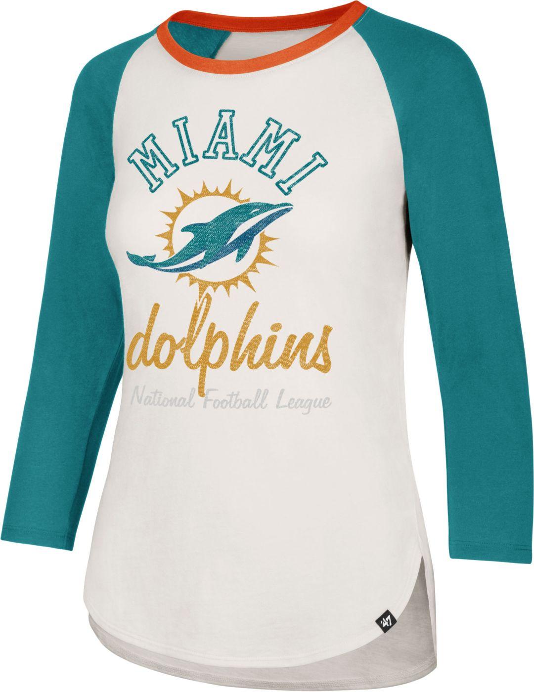 5bdc99f7 '47 Women's Miami Dolphins Raglan Shirt