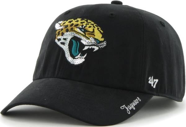 '47 Women's Jacksonville Jaguars Sparkle Clean Up Black Adjustable Hat product image