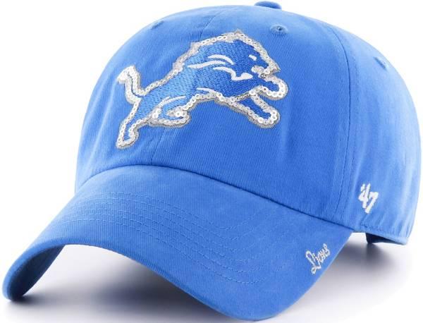 '47 Women's Detroit Lions Sparkle Clean Up Blue Adjustable Hat product image