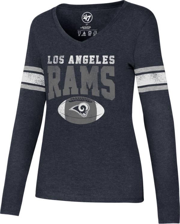 '47 Women's Los Angeles Rams Club Stripe Long Sleeve Shirt product image