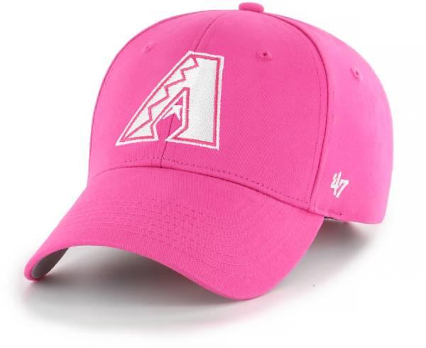 '47 Youth Girls' Arizona Diamondbacks Basic Pink Adjustable Hat product image