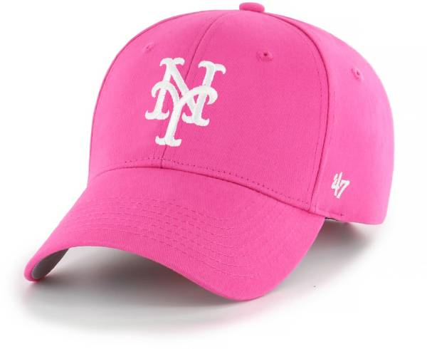 '47 Youth Girls' New York Mets Basic Pink Adjustable Hat product image