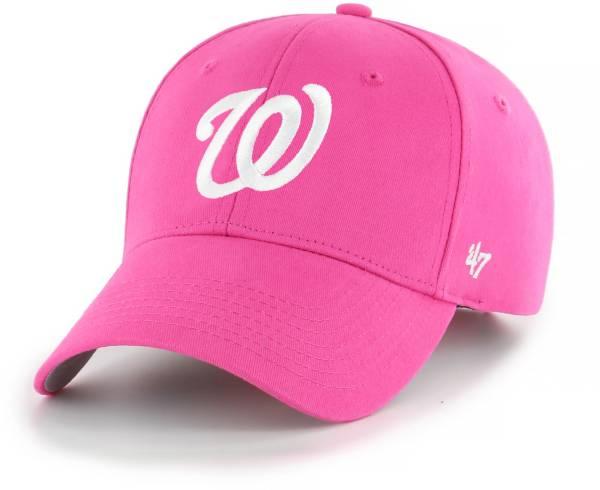 '47 Youth Girls' Washington Nationals Basic Pink Adjustable Hat product image