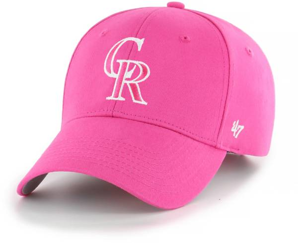 '47 Youth Girls' Colorado Rockies Basic Pink Adjustable Hat product image