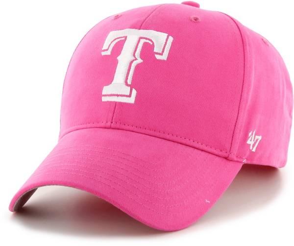 '47 Youth Girls' Texas Rangers Basic Pink Adjustable Hat product image