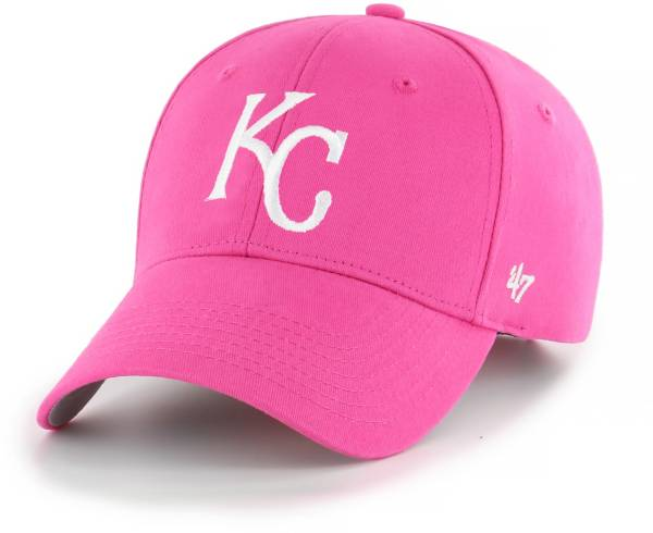 '47 Youth Girls' Kansas City Royals Basic Pink Adjustable Hat product image