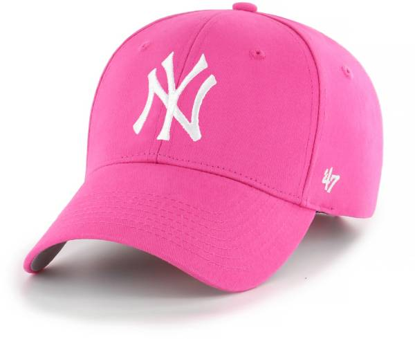 '47 Youth Girls' New York Yankees Basic Pink Adjustable Hat product image