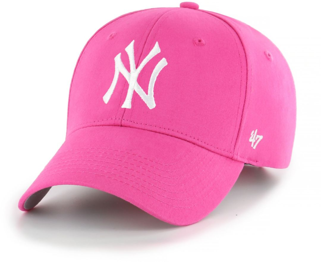 504fa589 '47 Youth Girls' New York Yankees Basic Pink Adjustable Hat