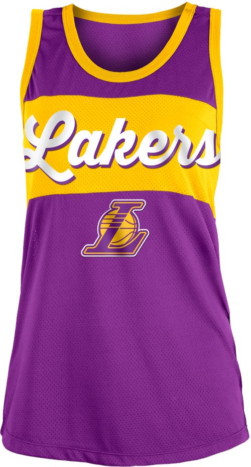 New Era Women s Los Angeles Lakers Mesh Tank  7f8f3a7110