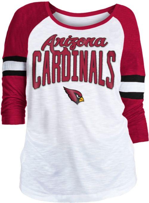 c5776bcdd4dc ... Women s Arizona Cardinals Glitter Slub White Raglan Shirt.  noImageFound. 1