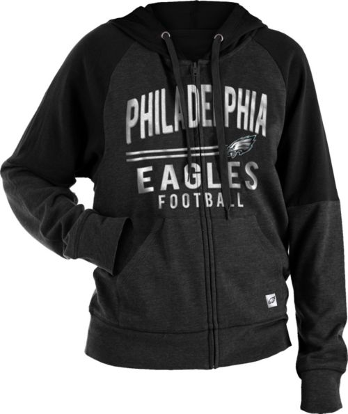 f1151dcbb3 NFL Team Apparel Women's Philadelphia Eagles Glitter Tri-Blend Fleece  Full-Zip Hoodie. noImageFound. 1