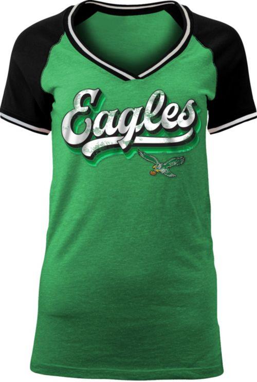 b43530786 NFL Team Apparel Women s Philadelphia Eagles Retro Glitter T-Shirt.  noImageFound. 1