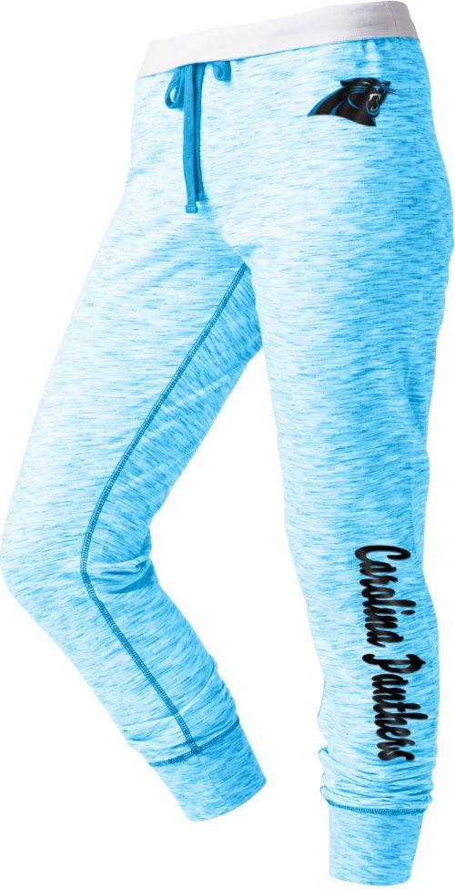 f922d418c NFL Team Apparel Women s Carolina Panthers Space Dye Heathered Blue  Sweatpants. noImageFound. 1