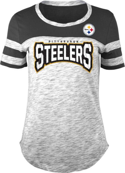 cc48942ed NFL Team Apparel Women s Pittsburgh Steelers Space Dye Rhinestone T ...