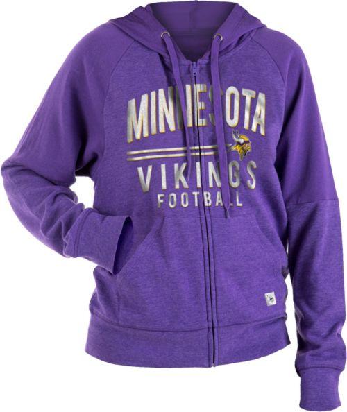 NFL Team Apparel Women s Minnesota Vikings Glitter Tri-Blend Fleece  Full-Zip Hoodie. noImageFound. 1 7624982c4