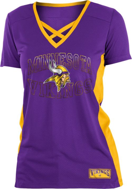 e8afe4375 NFL Team Apparel Women s Minnesota Vikings Mesh Lace Vikings T-Shirt.  noImageFound. 1