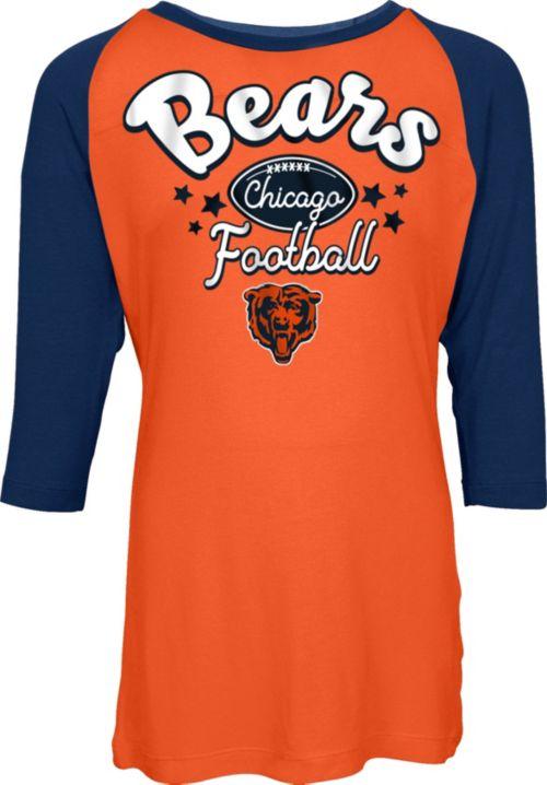 NFL Team Apparel Youth Chicago Bears Football Girls  Football Raglan Shirt.  noImageFound. 1 ada8fc7e5