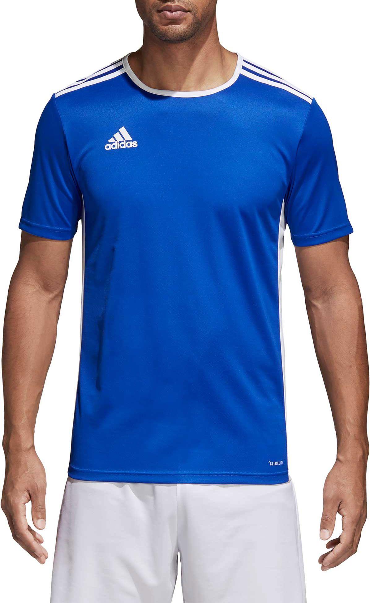 blue adidas shirt