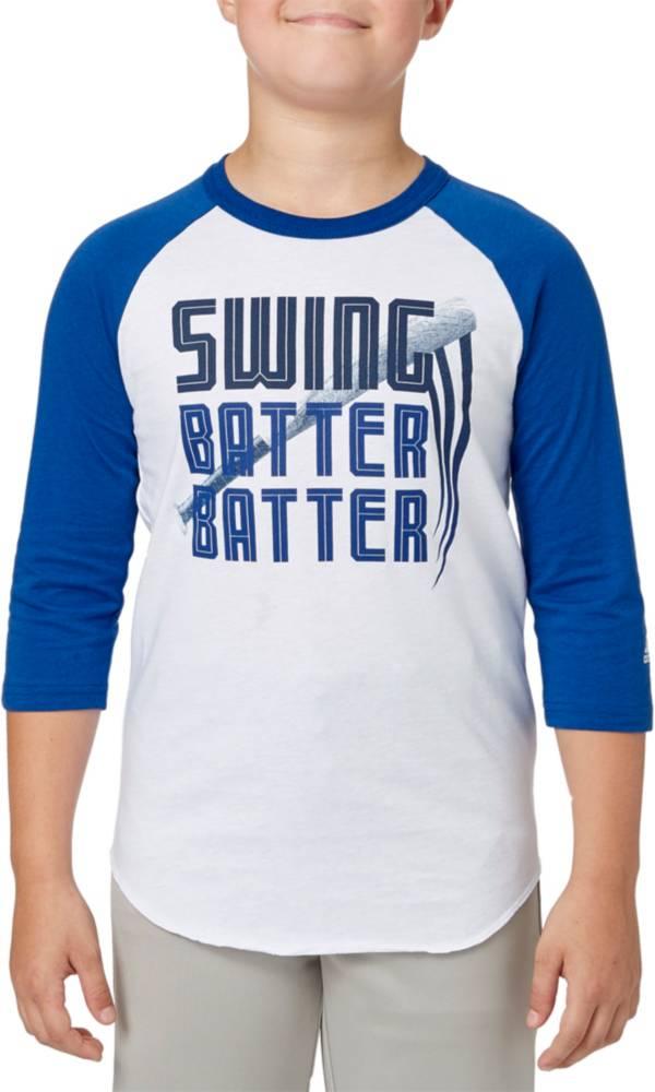 adidas Boys' Swing Batter ¾ Sleeve Baseball Shirt product image