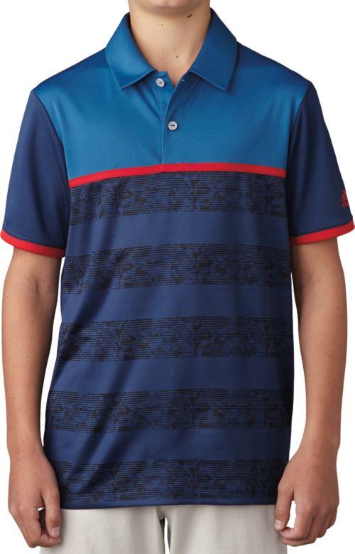 7526e96022d0ad adidas Boys  Camo Stripe Polo 1