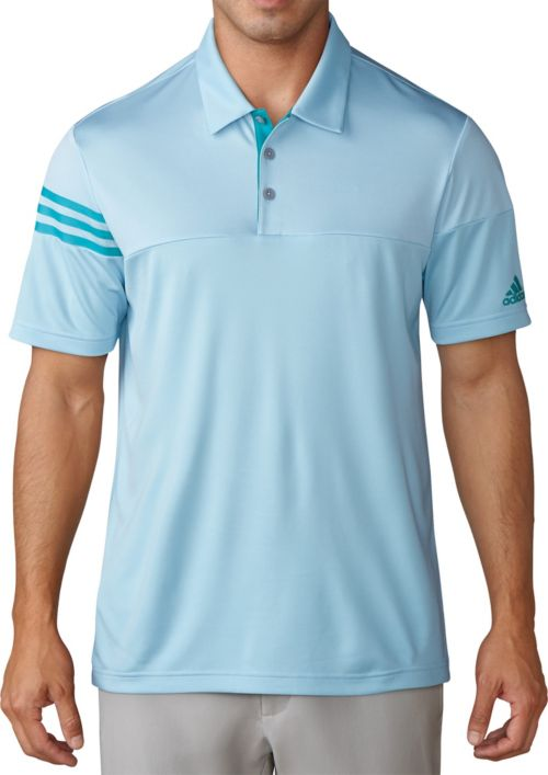 57bc942263 adidas Men's 3-Stripes Heather Block Golf Polo | DICK'S Sporting Goods