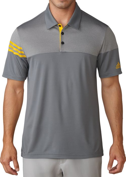 0fe2665bd2f adidas Men s 3-Stripes Heather Block Golf Polo. noImageFound. 1
