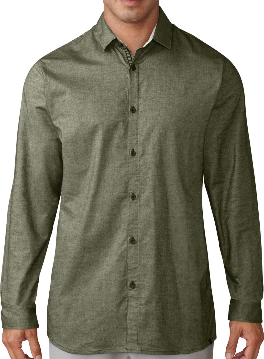 ade0c5aac adidas Men's Adicross Woven Oxford Long Sleeve Golf Shirt. noImageFound. 1