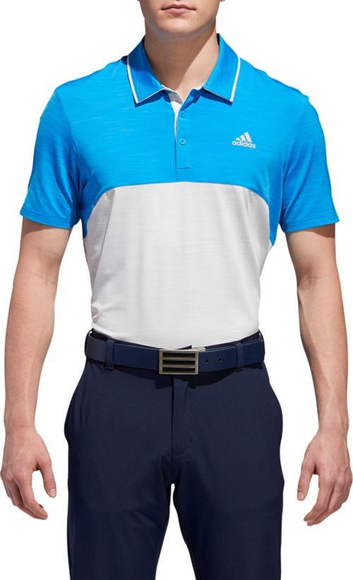 3daedb9e adidas Men's Ultimate365 Heather Blocked Golf Polo. noImageFound. Previous