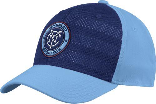 uk availability 324fb 1c277 adidas Men s New York City FC Authentic Structured Blue Navy Flexfit Hat