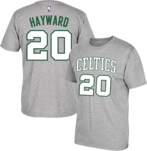 c6634c683 adidas Men s Boston Celtics Gordon Hayward  20 Grey T-Shirt