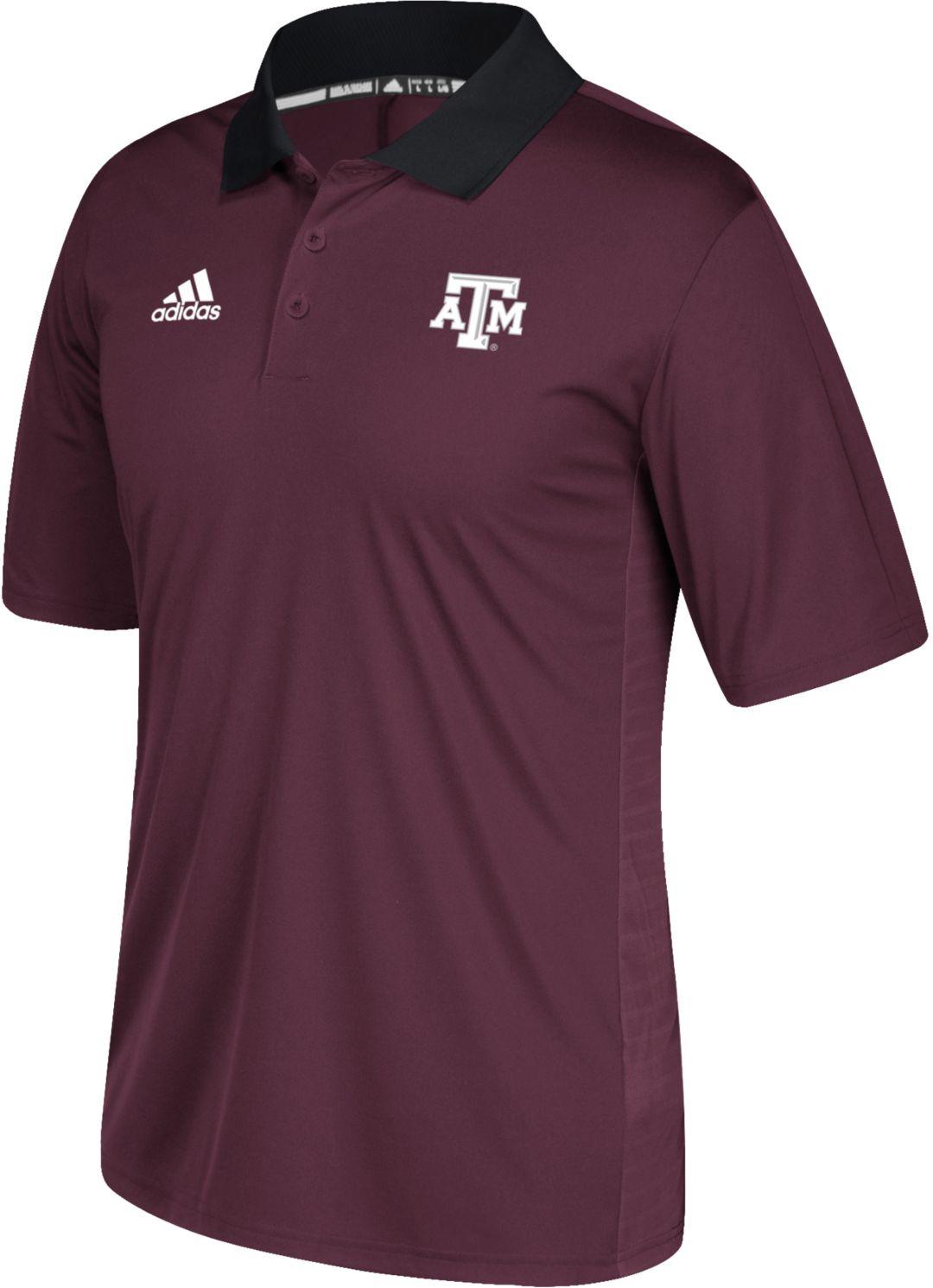 pretty nice 55787 06104 adidas Men s Texas A M Aggies Maroon Sideline Coaches Polo. noImageFound. 1