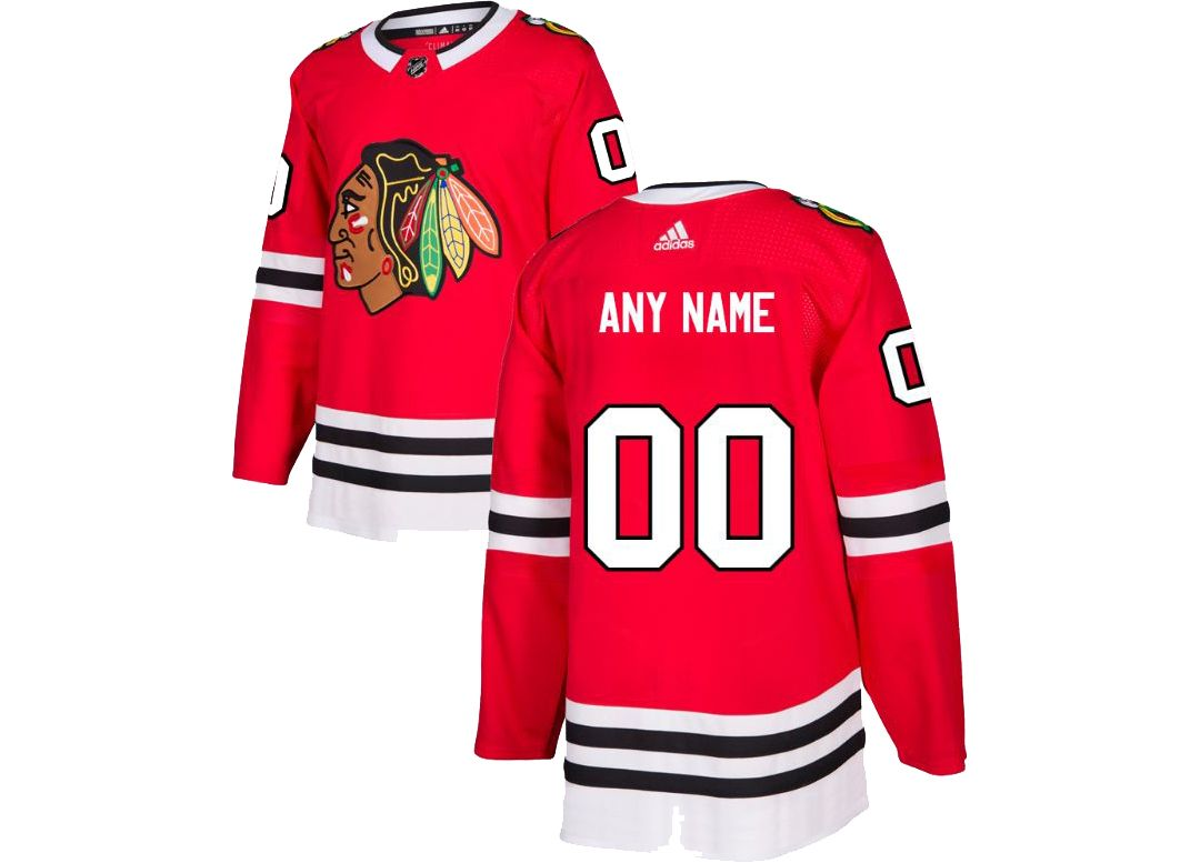 e2dabd409 adidas Men's Custom Chicago Blackhawks Authentic Pro Home Jersey | DICK'S  Sporting Goods