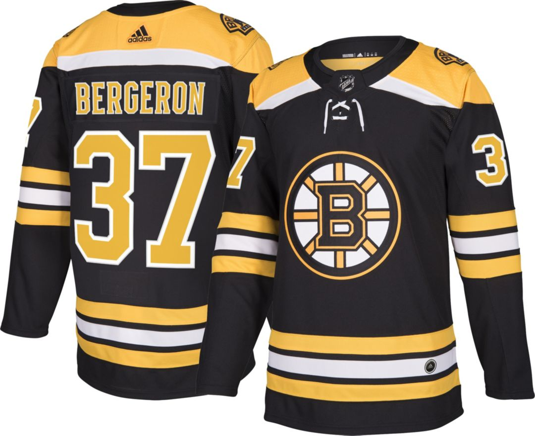 new style 07d71 e60af adidas Men's Boston Bruins Patrice Bergeron #37 Authentic Pro Home Jersey