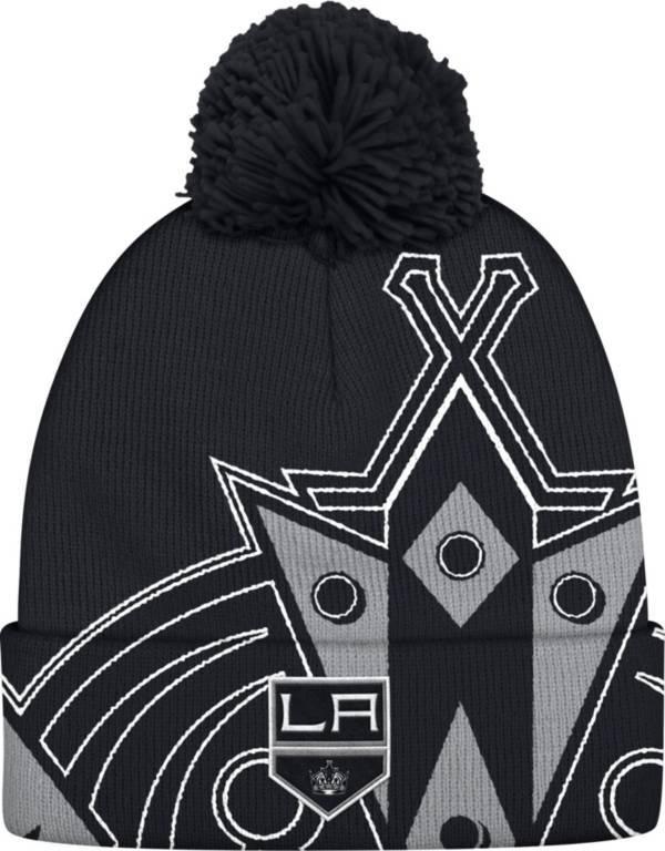 adidas Men's Los Angeles Kings Logo Black Pom Knit Beanie product image