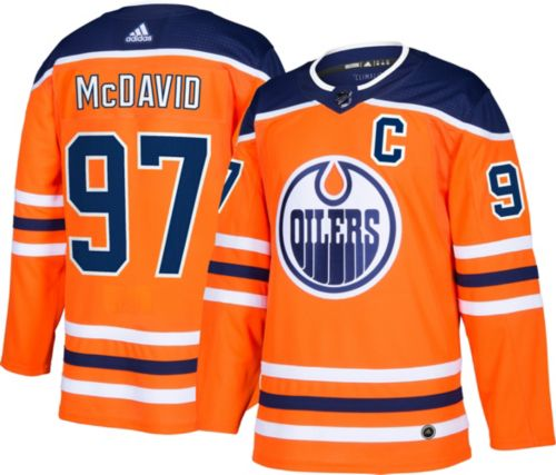 d1d5246fd adidas Men s Edmonton Oilers Connor McDavid  97 Authentic Pro Home ...