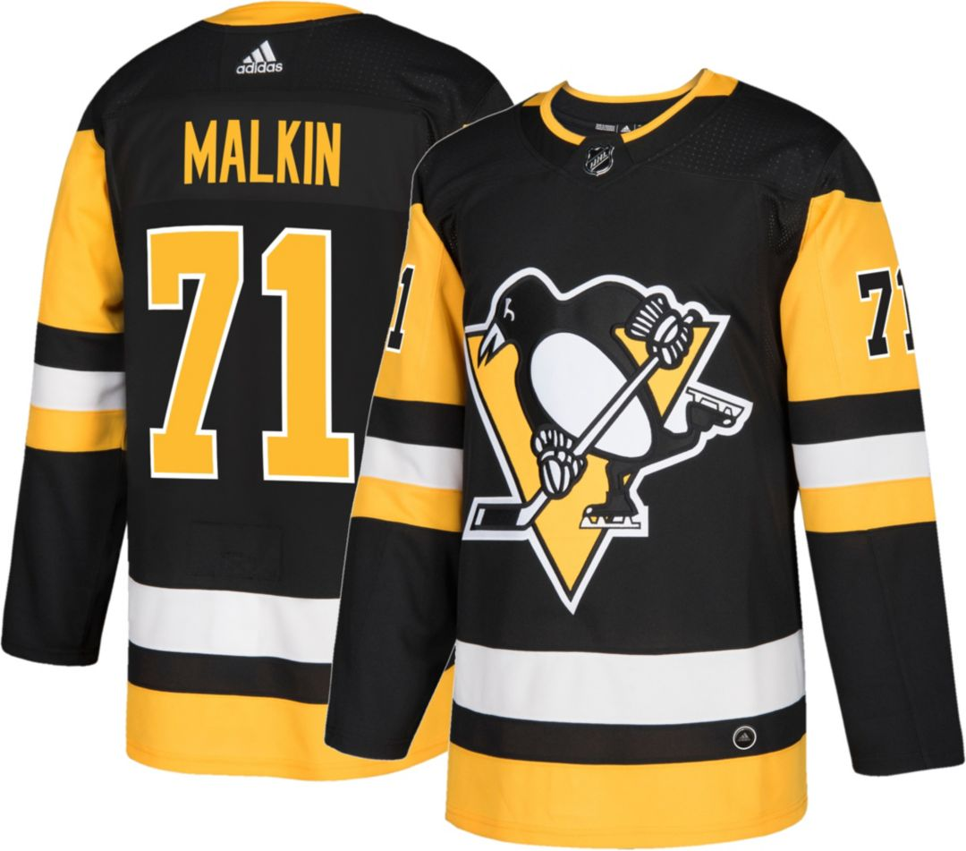 brand new 5d46a a34fe adidas Men's Pittsburgh Penguins Evgeni Malkin #71 Authentic Pro Home Jersey