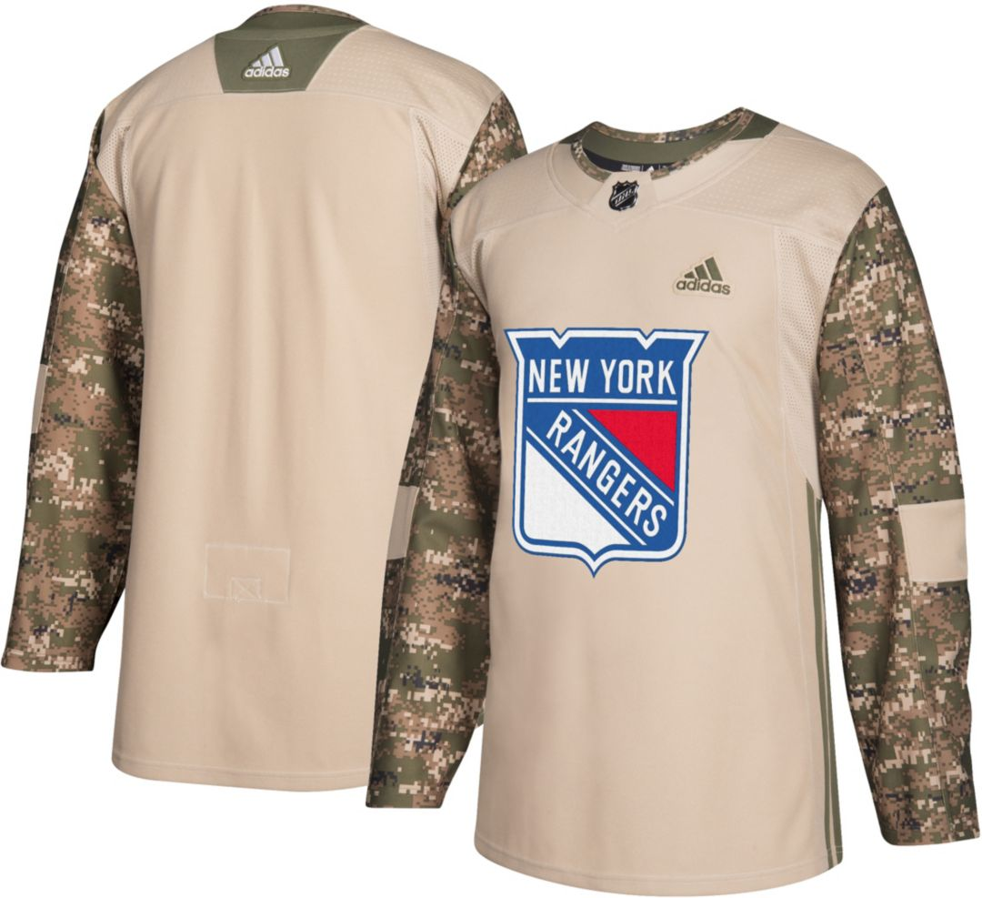 5942cdde1 adidas Men's New York Rangers Camo Authentic Pro Jersey. noImageFound.  Previous