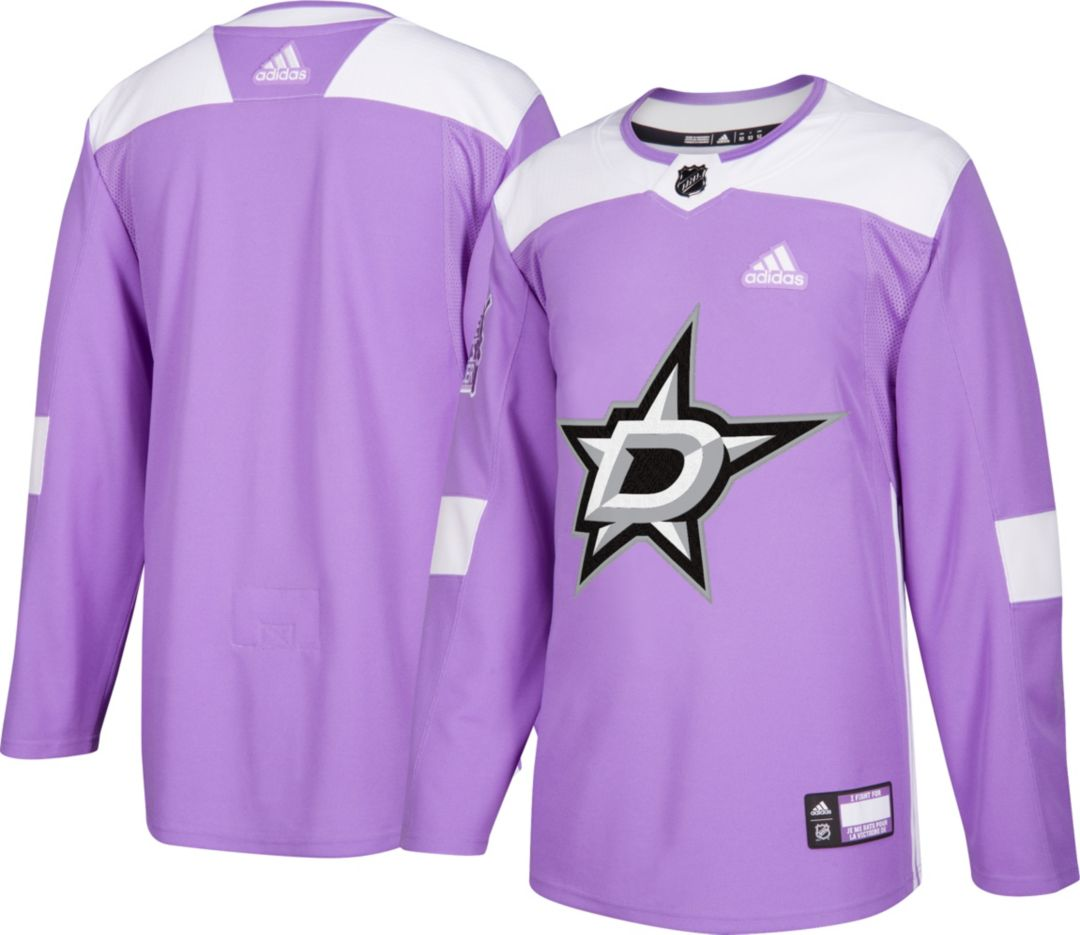 new product 6b1df 7b3d7 adidas Men's Dallas Stars Hockey Fights Cancer Authentic Pro Jersey