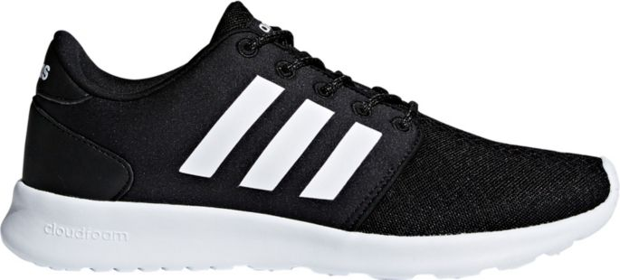 adidas Women's CF QT Racer W Sneaker, Core Black, Core Black,White, 9.5 M US