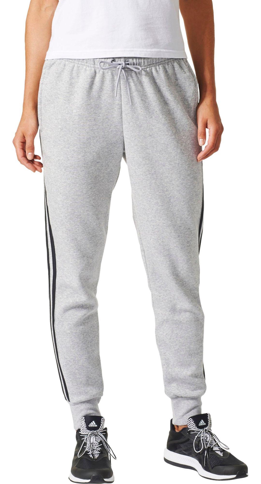 a7caaa211d adidas Women's Essentials Cotton Fleece 3-Stripes Jogger Pants