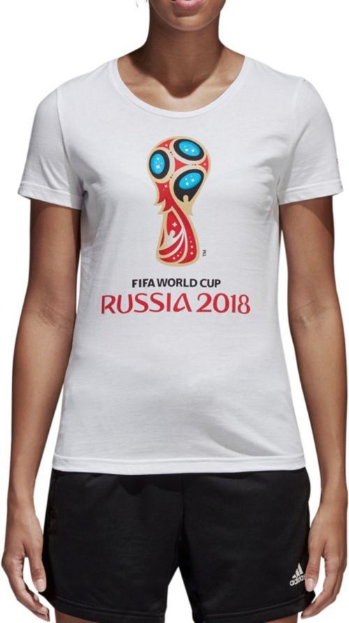 d5cb6c48b18 adidas Women s 2018 World Cup Russia Logo White T-Shirt. noImageFound.  Previous