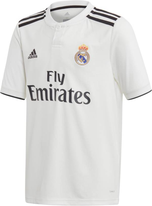 adidas Youth Real Madrid 2018 Stadium Home Replica Jersey product image