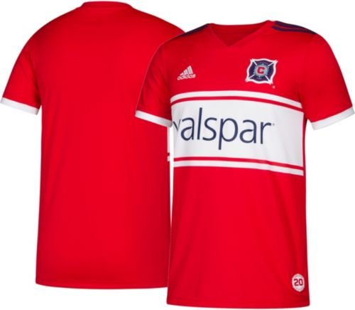 6ab1c52c4 adidas Youth Chicago Fire Primary Replica Jersey