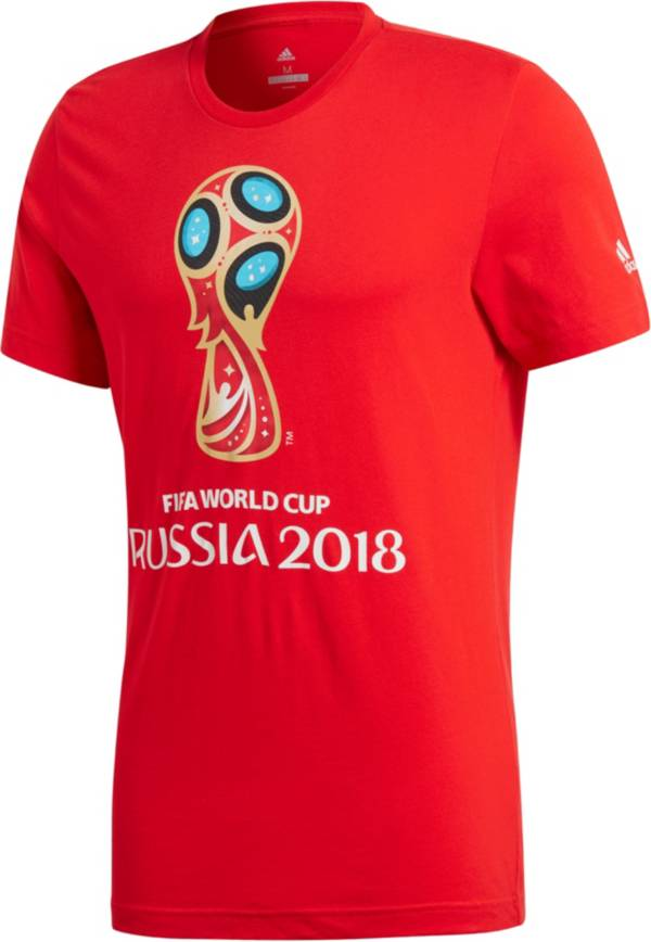 adidas Youth 2018 World Cup Russia Logo Red T-Shirt product image