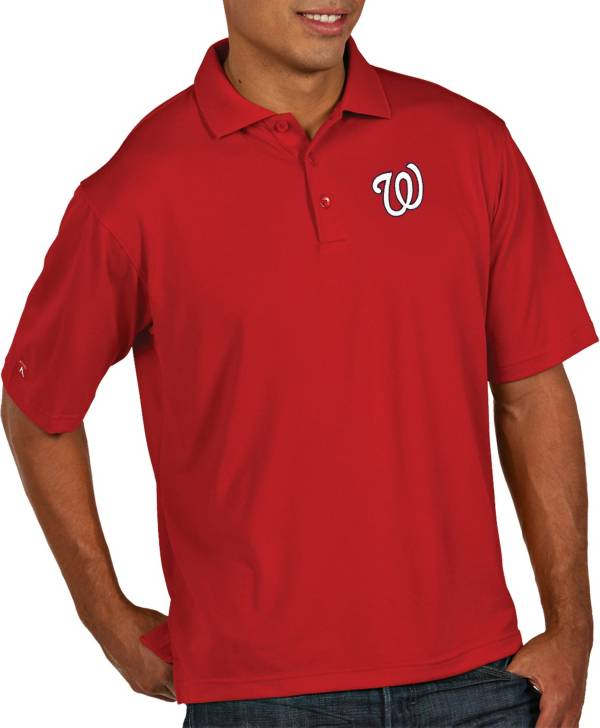 Antigua Men's Washington Nationals Pique Red Performance Polo product image