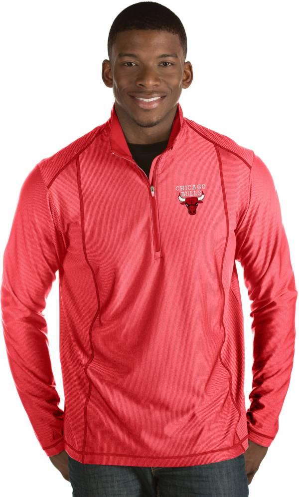 Antigua Men's Chicago Bulls Tempo Red Quarter-Zip Pullover product image