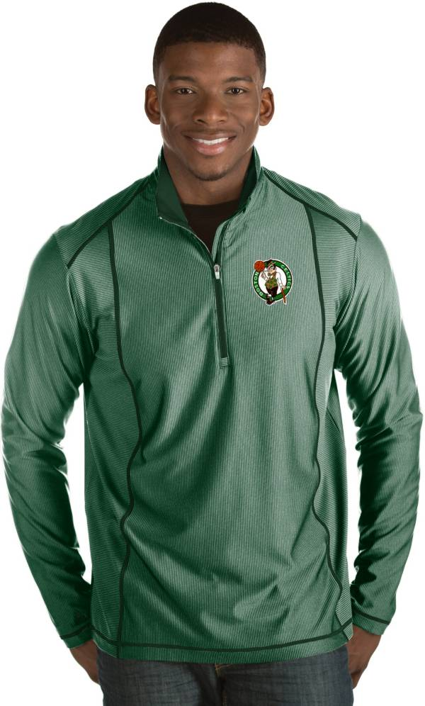 Antigua Men's Boston Celtics Tempo Kelly Green Quarter-Zip Pullover product image