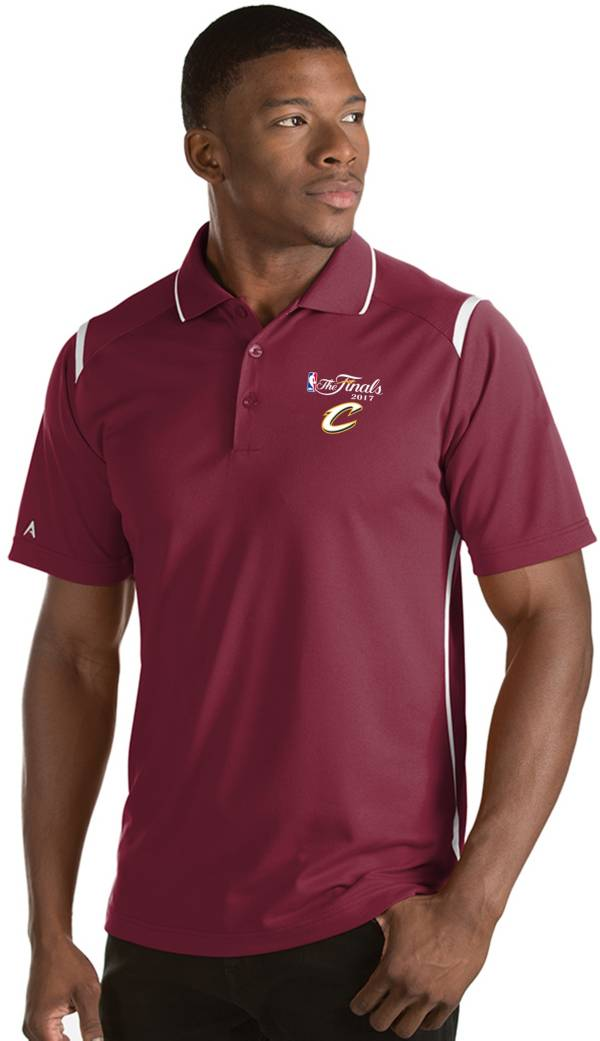 Antigua Men's 2017 NBA Finals Cleveland Cavaliers Merit Burgundy Performance Polo product image