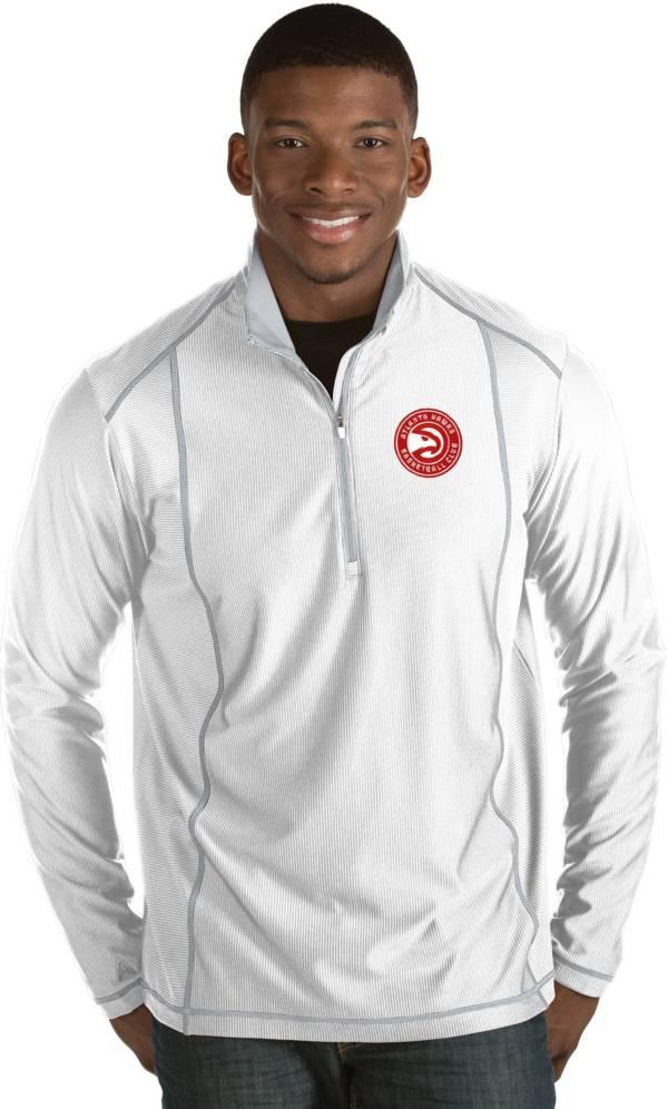 Antigua Men's Atlanta Hawks Tempo White Quarter-Zip Pullover product image